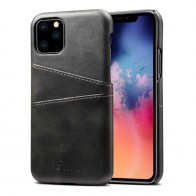 Mobiq Leather Snap On Wallet iPhone 11 Pro Max Zwart - 1