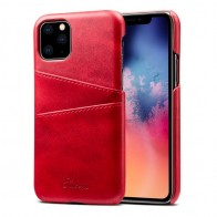 Mobiq Leather Snap On Wallet iPhone 11 Rood - 1