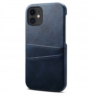 Mobiq Leather Snap On Wallet iPhone 12 Mini Blauw - 1