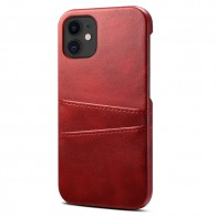 Mobiq Leather Snap On Wallet iPhone 12 Mini Rood - 1