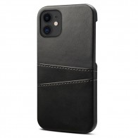 Mobiq Leather Snap On Wallet iPhone 12 Mini Zwart - 1