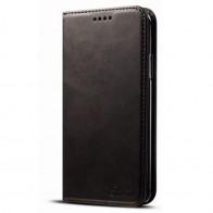 Mobiq Lederen iPhone X Portemonnee Hoes Black 01