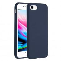 Mobiq Liquid Siliconen Hoesje iPhone SE (2020)/8/7 Blauw - 1