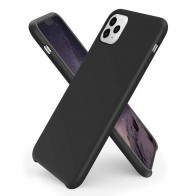 Mobiq - Liquid Siliconen Hoesje iPhone 11 Pro Zwart - 1