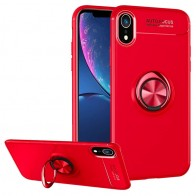 Mobiq Magnetic Ring Case iPhone XR Rood - 1