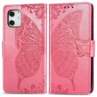 Mobiq Premium Butterfly Wallet Hoesje iPhone 12 Pro Max Roze - 1