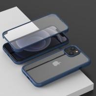 Mobiq Rugged 360 Graden Case iPhone 13 Pro Max Blauw - 1