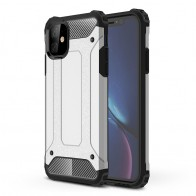 Mobiq Rugged Armor Case iPhone 11 Zilver - 1