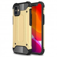 Mobiq - Rugged Armor Case iPhone 12 Mini Goud - 1