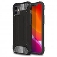 Mobiq - Rugged Armor Case iPhone 12 Mini Zwart - 1