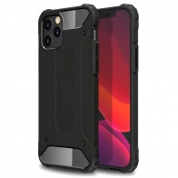 Mobiq - Rugged Armor Case iPhone 12 Pro Max Zwart - 1