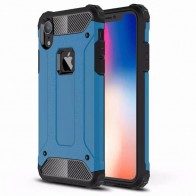 Mobiq Rugged Armor Case iPhone XR Blauw 01