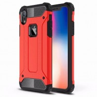 Mobiq Rugged Armor Case iPhone XR Rood 01