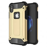 Mobiq - Rugged Armor Case iPhone XS Max Hoesje Goud 01