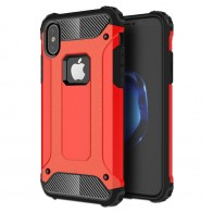 Mobiq - Rugged Armor Case iPhone XS Max Hoesje Rood 01