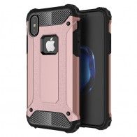 Mobiq - Rugged Armor Case iPhone XS Max Hoesje Roze 01
