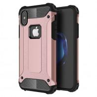 Mobiq - Rugged Armor Case iPhone XS Max Hoesje Roze 01