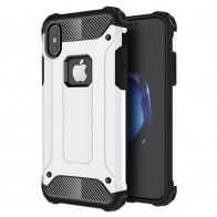 Mobiq - Rugged Armor Case iPhone XS Max Hoesje Wit 01