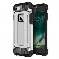 Mobiq - Rugged Armor Phone 8/7 Hoesje Zilver - 1