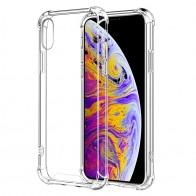 Mobiq Clear Rugged Case iPhone XS Max Transparant - 1