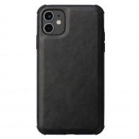 Mobiq Rugged PU Leather Hoese iPhone 12 Mini Zwart - 1