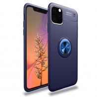Mobiq TPU Ring Hoesje iPhone 11 Blauw - 1