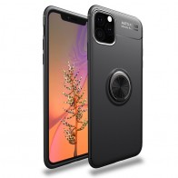 Mobiq TPU Ring Hoesje iPhone 11 Pro Max Zwart - 1