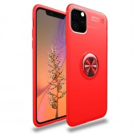 Mobiq TPU Ring Hoesje iPhone 11 Rood - 1