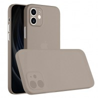 Mobiq - Ultra Dun 0.3mm Hoesje iPhone 12 Mini Grijs - 1