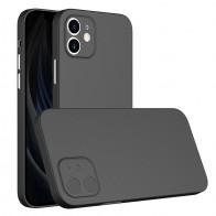 Mobiq - Ultra Dun 0.3mm Hoesje iPhone 12 Mini Zwart - 1