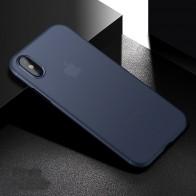 Mobiq - Ultra Slim 0,4mm Case Apple iPhone X Blauw 01