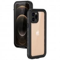 Mobiq Waterdicht iPhone 12 Pro Hoesje Zwart - 1