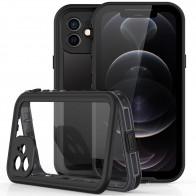 Mobiq Waterdicht iPhone 12 Hoesje Zwart - 1