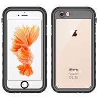Mobiq - Waterdicht Hoesje iPhone 6/6S Zwart/Transparant - 1