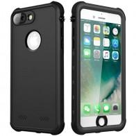 Mobiq Waterdicht Hoesje iPhone 8 Plus / 7 Plus Zwart - 1