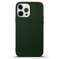 Mobiq iPhone 13 Pro Max Hoesje Leer Groen 01
