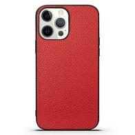 Mobiq iPhone 13 Pro Max Hoesje Leer Rood 01