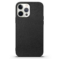 Mobiq iPhone 13 Pro Max Hoesje Leer Zwart 01
