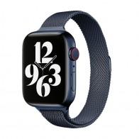 Mobiq Milanese Loop Apple Watch Bandje 42/44 mm Blauw 01