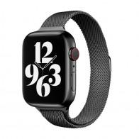 Mobiq Milanese Loop Apple Watch Bandje 42/44 mm Zwart 01