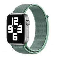 Mobiq Nylon Strap Apple Watch Bandje 42/44 mm lichtgroen 01