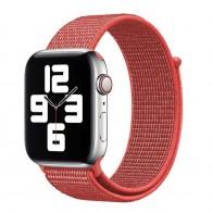 Mobiq Nylon Strap Apple Watch Bandje 42/44 mm rood 01