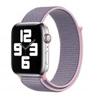 Mobiq Nylon Strap Apple Watch Bandje 38/40 mm roze-paars 01
