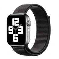 Mobiq Nylon Strap Apple Watch Bandje 38/40 mm zwart 01