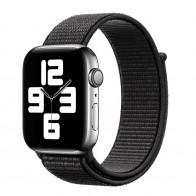 Mobiq Nylon Strap Apple Watch Bandje 42/44 mm Zwart 01