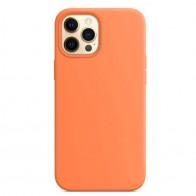 Mobiq Siliconen MagSafe Hoesje iPhone 12 / 12 Pro Oranje 01