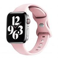 Mobiq - Siliconen Apple Watch Bandje 38/40 mm Lichtroze 01