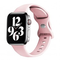 Mobiq Siliconen Apple Watch Bandje 42-44mm Lichtroze 01