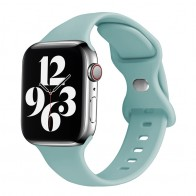 Mobiq - Siliconen Apple Watch Bandje 38/40 mm Mintgroen 01