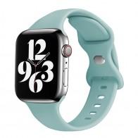 Mobiq Siliconen Apple Watch Bandje 42-44mm Mintgroen 01